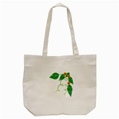 Scrapbook Green Nature Grunge Tote Bag (cream) by Nexatart