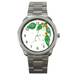 Scrapbook Green Nature Grunge Sport Metal Watch by Nexatart
