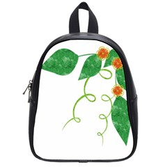 Scrapbook Green Nature Grunge School Bags (small)  by Nexatart