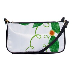 Scrapbook Green Nature Grunge Shoulder Clutch Bags by Nexatart