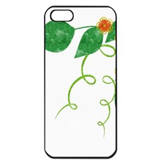 Scrapbook Green Nature Grunge Apple Iphone 5 Seamless Case (black)