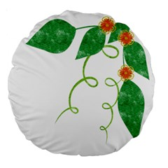 Scrapbook Green Nature Grunge Large 18  Premium Round Cushions by Nexatart