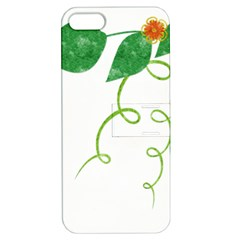 Scrapbook Green Nature Grunge Apple Iphone 5 Hardshell Case With Stand by Nexatart