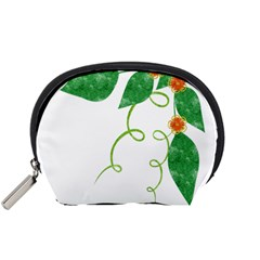 Scrapbook Green Nature Grunge Accessory Pouches (small)