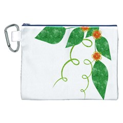 Scrapbook Green Nature Grunge Canvas Cosmetic Bag (xxl) by Nexatart