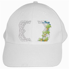Scrapbook Element Lace Embroidery White Cap by Nexatart