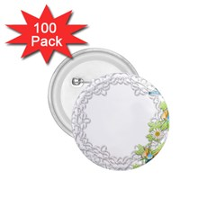 Scrapbook Element Lace Embroidery 1 75  Buttons (100 Pack)