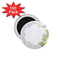 Scrapbook Element Lace Embroidery 1 75  Magnets (100 Pack)