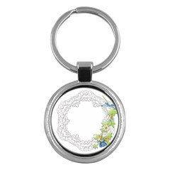 Scrapbook Element Lace Embroidery Key Chains (round)  by Nexatart