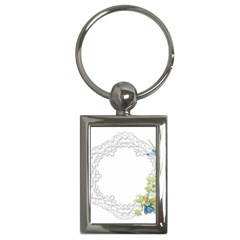 Scrapbook Element Lace Embroidery Key Chains (rectangle)
