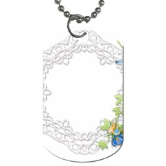 Scrapbook Element Lace Embroidery Dog Tag (one Side)
