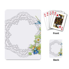 Scrapbook Element Lace Embroidery Playing Card by Nexatart