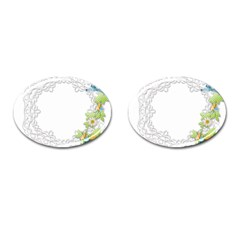 Scrapbook Element Lace Embroidery Cufflinks (oval) by Nexatart