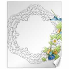 Scrapbook Element Lace Embroidery Canvas 16  X 20   by Nexatart