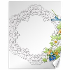 Scrapbook Element Lace Embroidery Canvas 18  X 24   by Nexatart