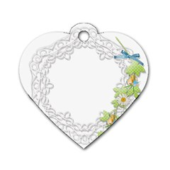 Scrapbook Element Lace Embroidery Dog Tag Heart (two Sides)