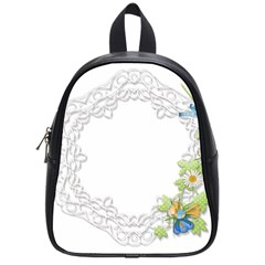 Scrapbook Element Lace Embroidery School Bags (small)
