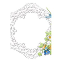 Scrapbook Element Lace Embroidery 5 5  X 8 5  Notebooks