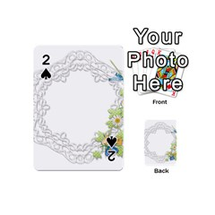 Scrapbook Element Lace Embroidery Playing Cards 54 (mini)  by Nexatart