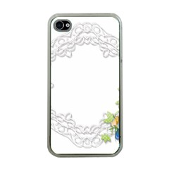 Scrapbook Element Lace Embroidery Apple Iphone 4 Case (clear)