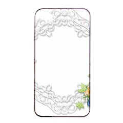 Scrapbook Element Lace Embroidery Apple Iphone 4/4s Seamless Case (black) by Nexatart