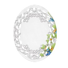 Scrapbook Element Lace Embroidery Oval Filigree Ornament (two Sides) by Nexatart