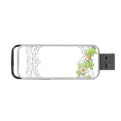 Scrapbook Element Lace Embroidery Portable Usb Flash (two Sides) by Nexatart