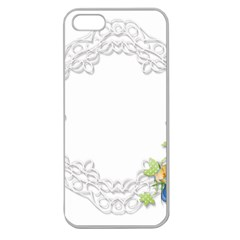 Scrapbook Element Lace Embroidery Apple Seamless Iphone 5 Case (clear)