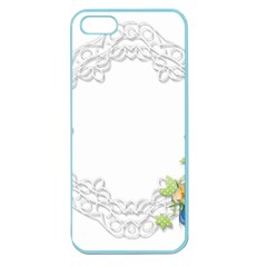 Scrapbook Element Lace Embroidery Apple Seamless Iphone 5 Case (color) by Nexatart
