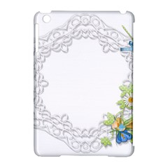 Scrapbook Element Lace Embroidery Apple Ipad Mini Hardshell Case (compatible With Smart Cover) by Nexatart