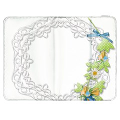 Scrapbook Element Lace Embroidery Samsung Galaxy Tab 7  P1000 Flip Case by Nexatart