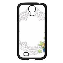 Scrapbook Element Lace Embroidery Samsung Galaxy S4 I9500/ I9505 Case (black) by Nexatart