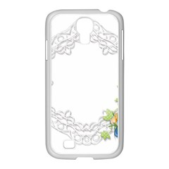 Scrapbook Element Lace Embroidery Samsung Galaxy S4 I9500/ I9505 Case (white) by Nexatart