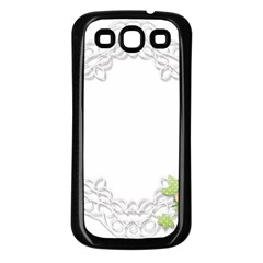 Scrapbook Element Lace Embroidery Samsung Galaxy S3 Back Case (black)