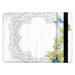 Scrapbook Element Lace Embroidery Samsung Galaxy Tab Pro 12 2  Flip Case by Nexatart