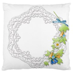 Scrapbook Element Lace Embroidery Standard Flano Cushion Case (two Sides) by Nexatart