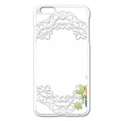 Scrapbook Element Lace Embroidery Apple Iphone 6 Plus/6s Plus Enamel White Case by Nexatart
