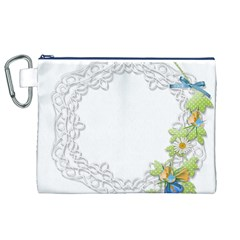 Scrapbook Element Lace Embroidery Canvas Cosmetic Bag (xl) by Nexatart