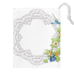 Scrapbook Element Lace Embroidery Drawstring Pouches (xxl)