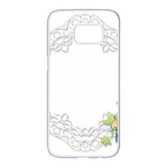 Scrapbook Element Lace Embroidery Samsung Galaxy S7 Edge White Seamless Case by Nexatart