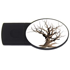 Tree Isolated Dead Plant Weathered Usb Flash Drive Oval (4 Gb)