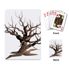 Tree Isolated Dead Plant Weathered Playing Card