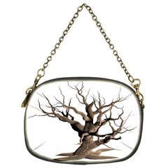 Tree Isolated Dead Plant Weathered Chain Purses (one Side)