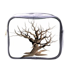 Tree Isolated Dead Plant Weathered Mini Toiletries Bags by Nexatart