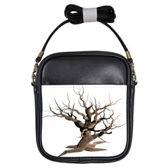 Tree Isolated Dead Plant Weathered Girls Sling Bags by Nexatart