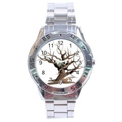Tree Isolated Dead Plant Weathered Stainless Steel Analogue Watch