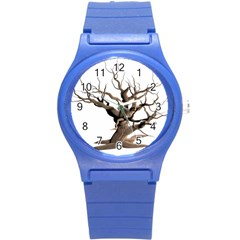 Tree Isolated Dead Plant Weathered Round Plastic Sport Watch (s) by Nexatart