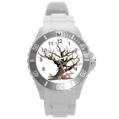 Tree Isolated Dead Plant Weathered Round Plastic Sport Watch (l)