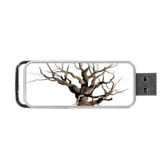 Tree Isolated Dead Plant Weathered Portable Usb Flash (two Sides) by Nexatart