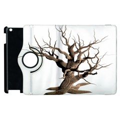 Tree Isolated Dead Plant Weathered Apple Ipad 2 Flip 360 Case